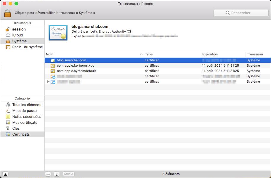 Le trousseau d'accès de macOS